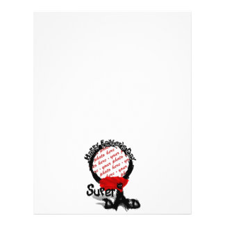 Father s Day Super Bad Dad Scribble Text With Cape Personalized Flyer