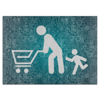 Father Shoppers Pictograph Cutting Boards
