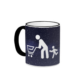 Father Shoppers Pictograph Ringer Coffee Mug