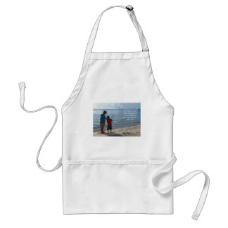 Father, Son and God Adult Apron