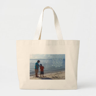 Father, Son and God Large Tote Bag