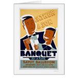 Father Son Banquet 1940 WPA Card