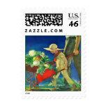 Father & Son Grandfather Grandson Garden Stamps