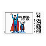 Father Son Halloween Stamps