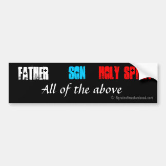 Father Son Holy Spirit Bumper Sticker