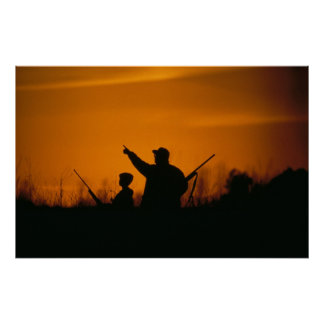 Father & Son Hunting Poster