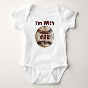 Father Son Matching Apparel Baseball Baby Creeper