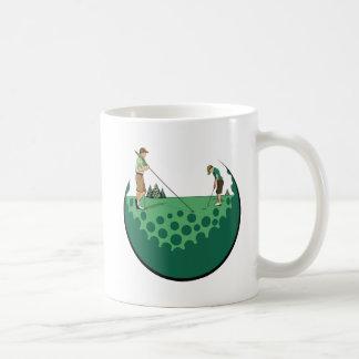 Father & Son On Putting Green Coffee Mug