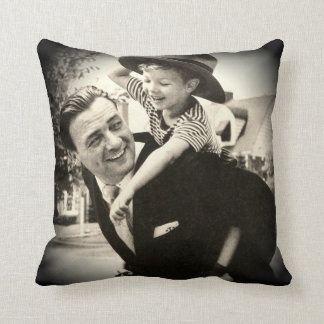 Father Son Piggy Back Boy Family Vintage 1950s Pillow