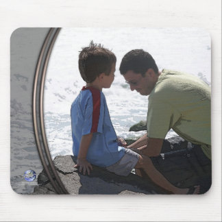 FATHER SON REFLECTION MOUSE PAD