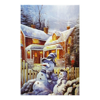 Father & Son Snowman Stationery