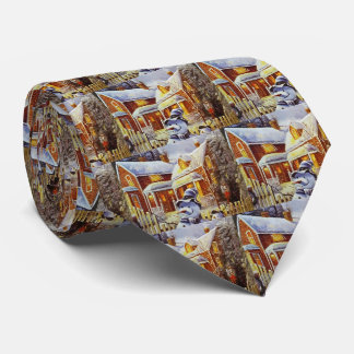 Father & Son Snowman Tie