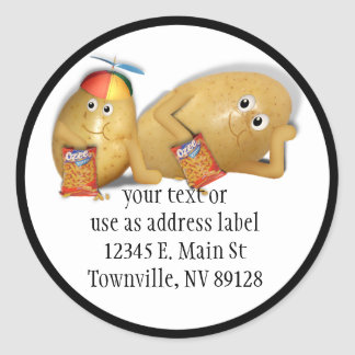 Father & Son Spuds Classic Round Sticker
