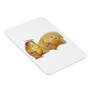Father & Son Spuds Rectangle Magnet