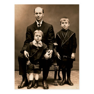 Father & Sons: Earl with Henry & Palmer BURG c1912 Postcard