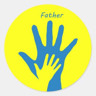 Father Round Sticker