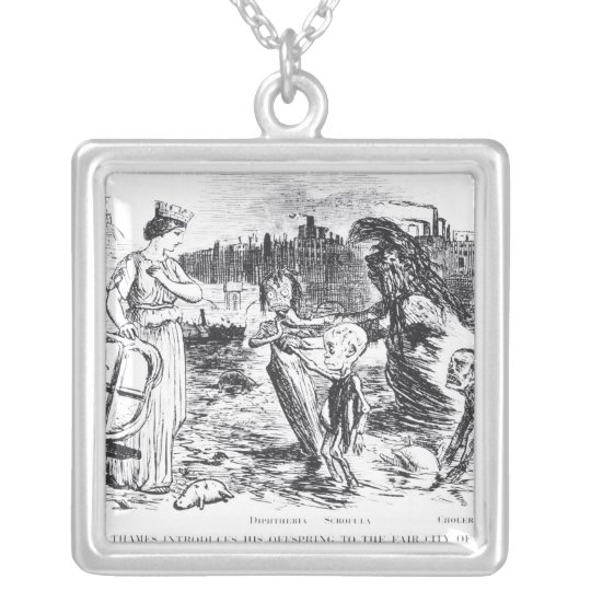 Father Thames Introduces his Offspring Silver Plated Necklace