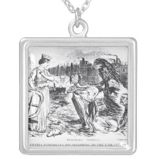 Father Thames Introduces his Offspring Square Pendant Necklace