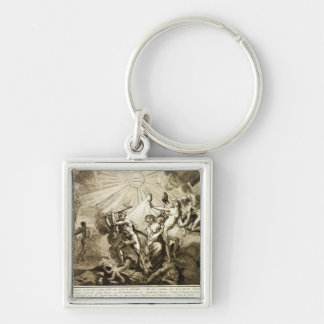 Father Time discovers Truth trampling Keychains