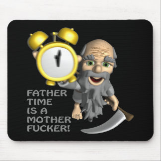 Father Time Mouse Pad