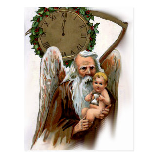 father time postcard