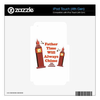 Father Time iPod Touch 4G Decals
