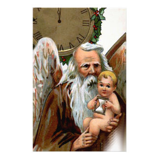 father time stationery