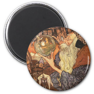 Father Time Vintage New Year 2 Inch Round Magnet