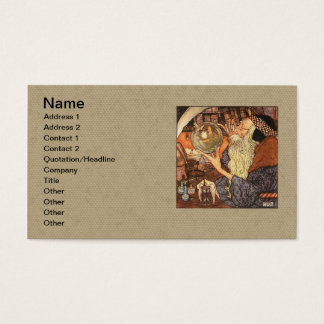 Father Time Vintage New Year Business Card