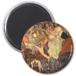 Father Time Vintage New Year Magnet