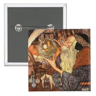Father Time Vintage New Year Pinback Button
