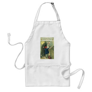 Father Time Wishing You a Happy New Year Adult Apron