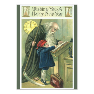 Father Time Wishing You a Happy New Year Card