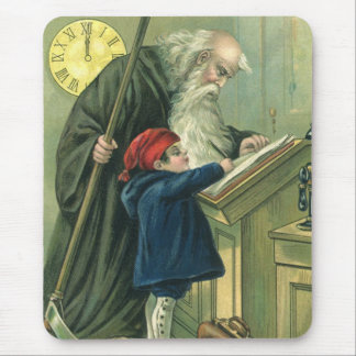 Father Time Wishing You a Happy New Year Mouse Pad