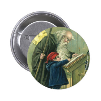 Father Time Wishing You a Happy New Year Pinback Button
