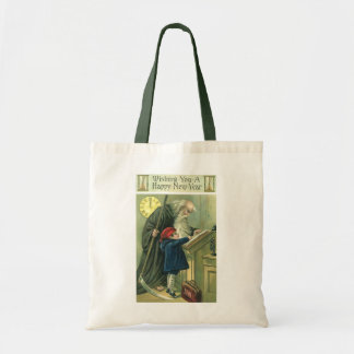 Father Time Wishing You a Happy New Year Tote Bag