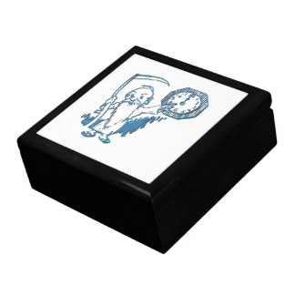 Father Time with Scythe and Clock Keepsake Box