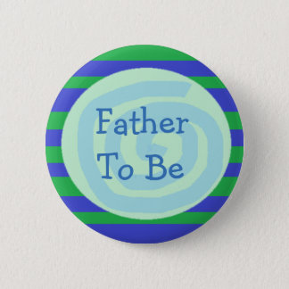 Father to be Green & Blue Baby Shower Button