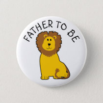 Father to be Zebra Baby Shower button