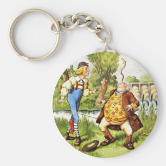 Father William Balances an Eel on His Nose Basic Round Button Keychain
