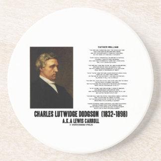 Father William Wonderland Charles Lutwidge Dodgson Drink Coaster