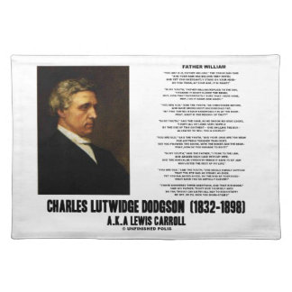 Father William Wonderland Charles Lutwidge Dodgson Cloth Place Mat