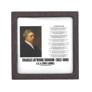 Father William Wonderland Charles Lutwidge Dodgson Premium Trinket Box