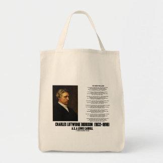 Father William Wonderland Charles Lutwidge Dodgson Tote Bag