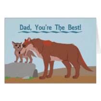 Father Wolf and Pup Card