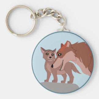 Father Wolf and Pup Keychain
