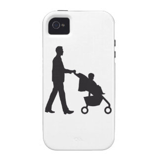 father woman with baby in barrow iPhone 4 cover
