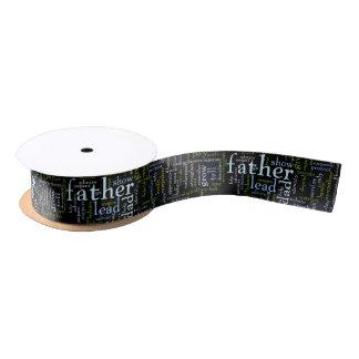 Father Word Satin Ribbon