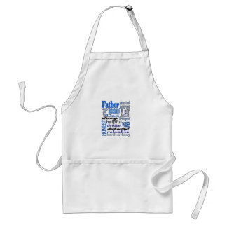 Father Words Day Dad Daddy Papa Pawpaw Aprons