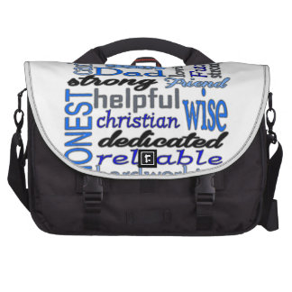 Father Words Day Dad Daddy Papa Pawpaw Laptop Computer Bag